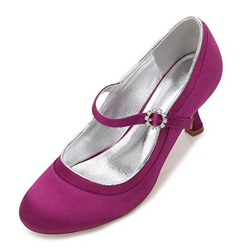 Toe purple mariage orteils L chaussures pompes en 17061 JL haut orteil satin de fermé nuptiale 44 talon YC T88P5
