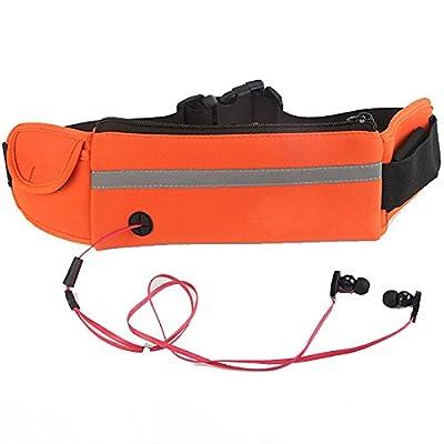Cabas de fitness Mobile extérieur Sécurité poches multifonctions Marathon Ceinture bleu