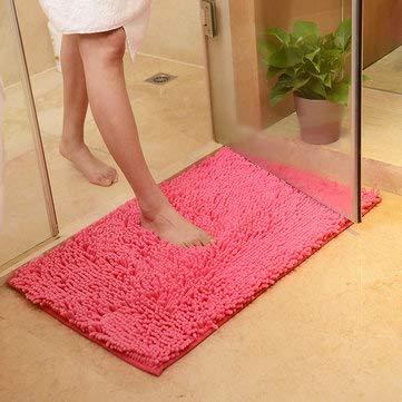 WX-329 50x80cm Chenille Soft Mat Machine Washable Bathroom