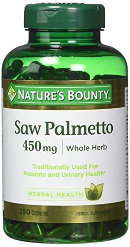 Natures Bounty Saw Palmetto 450 mg Capsules 250 ea