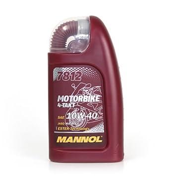 Aceite Motor moto Mannol 4-takt 1lt 4T 10 W40 Jaso Ma/MA2: Amazon.es: Coche y moto