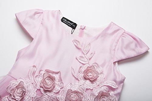 Rosa Cielarko Vestito Fiore Natale Principessa Bambina Abiti xU0R0qwSC
