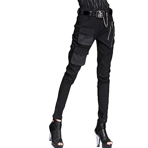 f17ec64883a Minibee Pernalized Punk Street Style Harem Pants Patchwork Zipper Pockets  well-wreapped