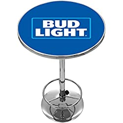 Trademark Gameroom Bud Light Chrome Pub Table