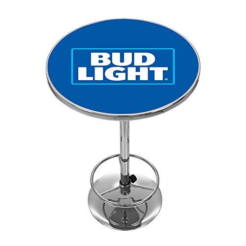 Trademark Gameroom Bud Light Chrome Pub Table