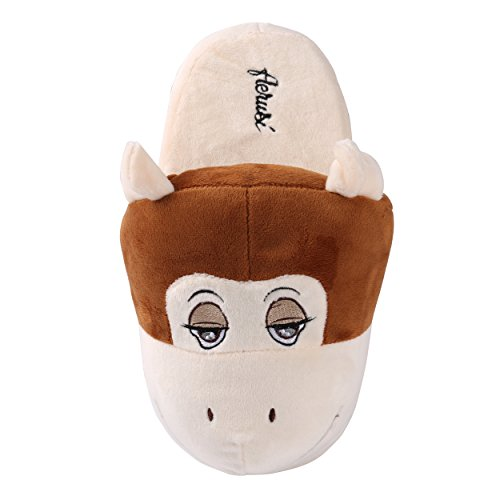 House Bedroom Comfort Animal Cute Kid Winter Aerusi Indoor Slipper Plush Monkey Shoes Adult axqvwg