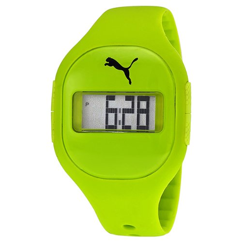 Puma Fuse Digital Dial Lime Green Silicone Unisex - Puma Watch Green