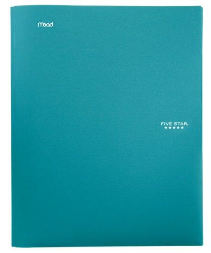 Five Star 2-Pocket Folder, Stay-Put Folder, Folders with Pockets, Teal (72107)