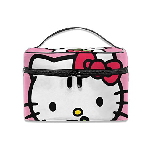 LCXjj Hello Kitty with Strawberry Multifunction Travel Makeup Case,Professional Cosmetic Makeup Bag Organizer Makeup Boxes,Toiletry Jewelry for - Hello Home Accessories Kitty