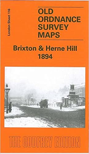 Old Ordnance Survey Maps Brixton /& Herne Hill  London 1870 Godfrey Edition New