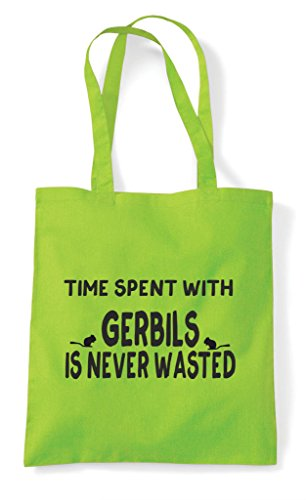 Gerbils Lime Bag With Never Is Spent Tote Wasted Funny Shopper Time E8qwvHA