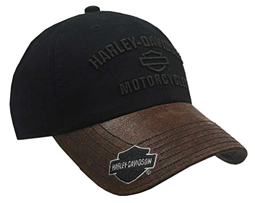 Harley-Davidson Men's H-D Motorcycles Logo Baseball Cap, Black/Brown BCC51639 (Harley Ball Cap)