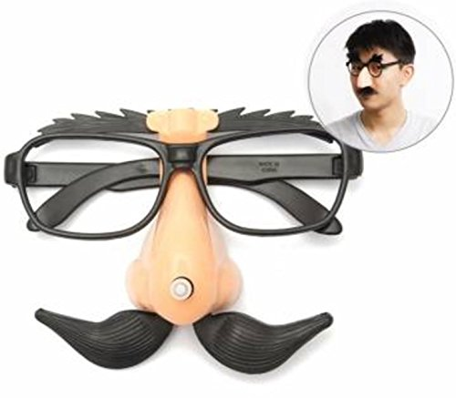 Funny Plastic Nose Mustache Clown Glasses Hallowmas Party Supply by - For Plastic Glasses Nose Grips