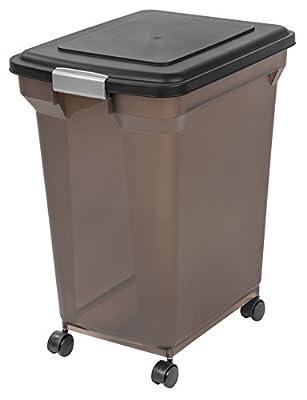 IRIS Premium Airtight Pet Food Storage Container, Black