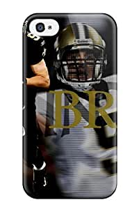 Jocelynn Trent's Shop Best durable Protection Case Cover For Iphone 4/4s(drew Brees) 9497503K60737676
