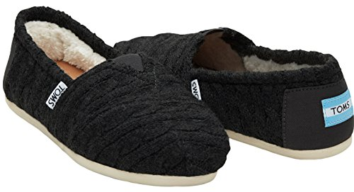 toms-womens-classics-flat-black-cable-knit-shearling-size-75-bm-us