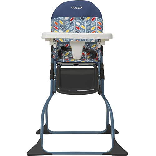 (Cosco Simple Fold Full Size High Chair with Adjustable Tray, Leafy )