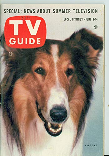 1957 TV Guide Jun 8 Lassie - New England Edition Excellent to Mint (6 out of 10) Lightly Used by Mickeys Pubs