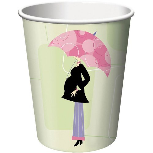 Mod Mom Baby Shower Paper Cups, 8ct
