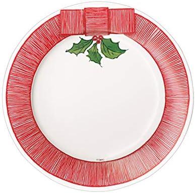 Piatti di Natale,8 Piatti in Carta Natale cm 20,8 Piatti Carta Natale cm 27 tuttofesta Kit Piatti Natale