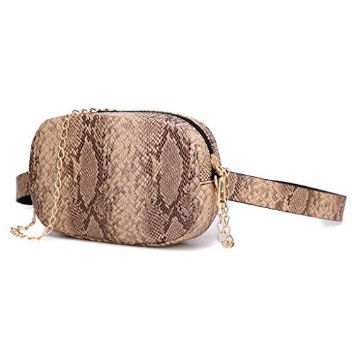 5b46194575f8 Lefthigh Women Snakeskin Zipper Single Shoulder Diagonal Cross Bag Sport  Chest Pack