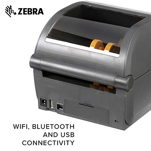 Zebra - ZD420d Direct Thermal Desktop Printer for Labels and Barcodes - Print Width 4 in - 203 dpi - Interface: WiFi, Bluetooth, USB - ZD42042-D01W01EZ by Zebra Technologies (Image #5)