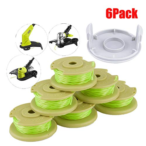 ❤️ MChoice ❤️AC80RL3 Twisted Line and Spool Replacement for Ryobi Cordless Trimmers 6Pc ()