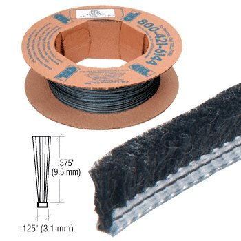 .375'' Adjustable Astragal Replacement Pile Weatherstrip - 100' Roll