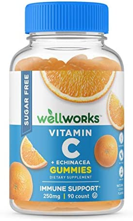 VitaWorks Sugar Free Vitamin C for Adults – with Echinacea – Great Tasting Natural Flavor Gummy Supplement – Keto Friendly – Vegetarian GMO-Free Chewable Vitamins – for Immune Support – 90 Gummies