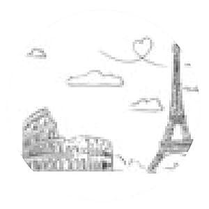 alfombrilla de ratón Dibujado a mano de lugares de Europa. - ronda - 20cm
