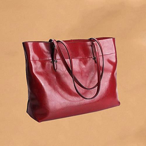 La Moda Color Cuero Las Cera Baachang Bolso Red Coffee Mujeres De Aceite color Del Wine Salvaje xqFYFvw