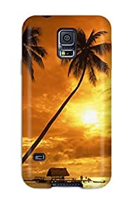 Fashion Protective Tropical Sunset Case Cover For Galaxy S5