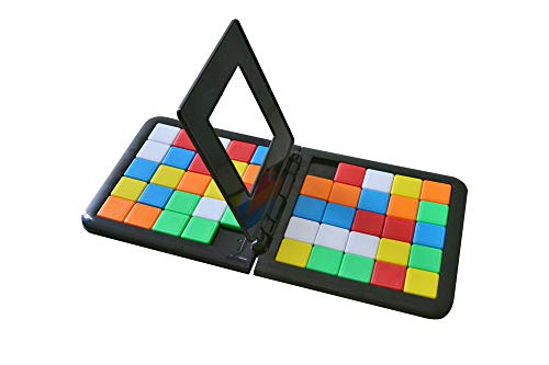 debieborahtoys Magic Block Game Race Board Game Magic Cube Education Parent-Child Activity Board for Kids Funny Family Party Game Birthday Gift,1 Pack (Rubiks Race Board Game)