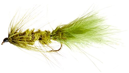 Flies Direct Wooly Bugger Olive Assortment 1 Dozen Trout Fishing Flies