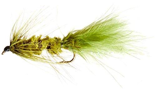 Flies Direct Wooly Bugger Olive Assortment 1 Dozen Trout Fishing Flies (Woolly Bugger Flies)
