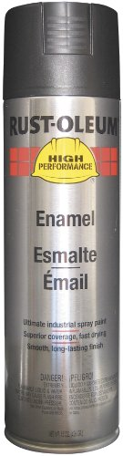 - Rust-Oleum V2177838 V2100 System Enamel Spray Paint, 15-Ounce, Semi-Gloss Black