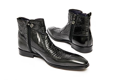 Roberto Guerrini A6450 Mens Black Zip Upp Boot.