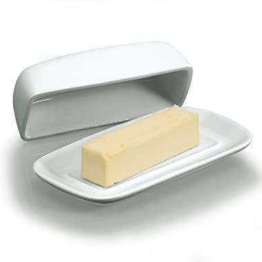 BIA Classic Butter Dish with Cover in White