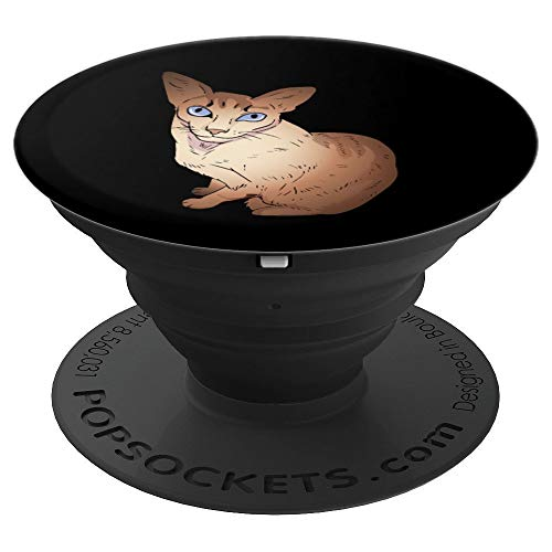 Javanese Bobtail Cat Pop Socket Cat Lover Gifts - PopSockets Grip and Stand for Phones and ()