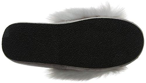 Grey Boux Femme Fluffy Avenue 01dv Dove Slider Pantoufles xCPCXwqFr