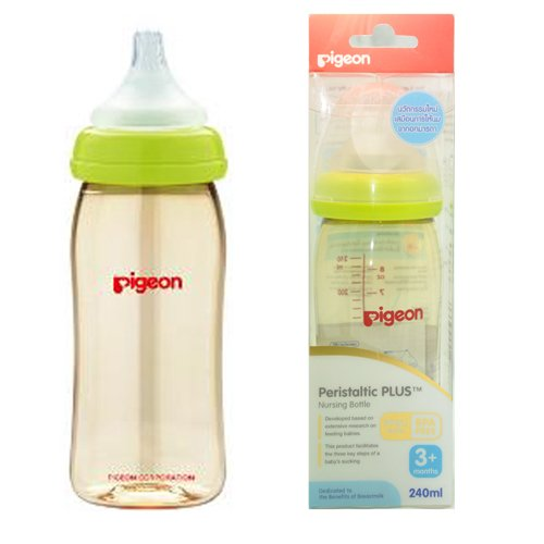 Pigeon Peristaltic PLUS PPSU Nursing Bottle BPA Free 240 ml with nipple size M -