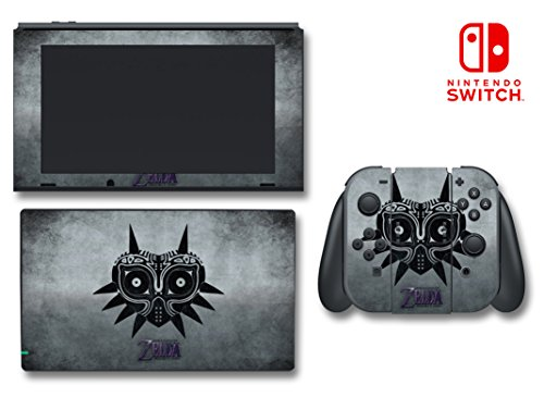 Zelda Majora's Mask Special Edition Fog Metal Video Game Vinyl Decal Skin Sticker Protector Cover for Nintendo Switch Console System
