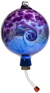 Kitras Van Glow Hummingbird Feeder Glass Ornament, Purple/Blue