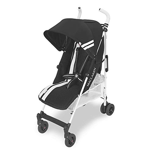 FC Maclaren Stroller- Versatile, Full-Featured, Lightweight, Compact. for Newborns+. Full Reclining seat, Extended UPF 50+/Waterproof Canopy, Large Basket, 4 Wheel Suspension. Accessories Included