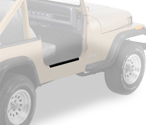 - Bestop 51047-01 HighRock 4X4 Black Door Sill Entry Guard Set for 76-95 CJ7 and Wrangler YJ