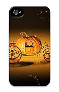 Protective Customized Slim Cases for iPhone 4 3D Hard Case Pumpkin Coach Cover