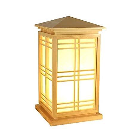 Yu de K Japón Estilo de madera maciza decorativa Lámpara de ...