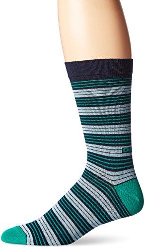 - Diesel Men's Ray Stripe Socks, Blue/Green Stripe, Large