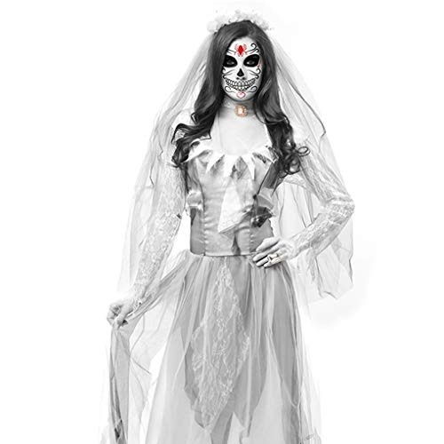 Miaomiaogo Women Cosplay Halloween Costume Horror Ghost Dead Corpse Zombie Bride Dress]()