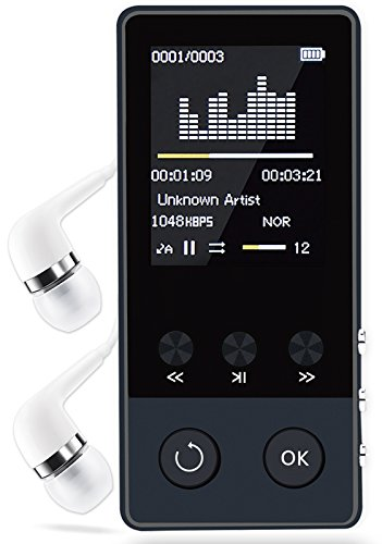 Bluetooth MP3 Player,Newiy Start Portable Lossless Sound Music Player with FM Radio /Voice recorder(Expandable UP to 64GB)